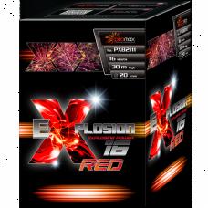 "Stobru bloks, baterija, salūts ""eXplosion 16 Red"" PXB2111"