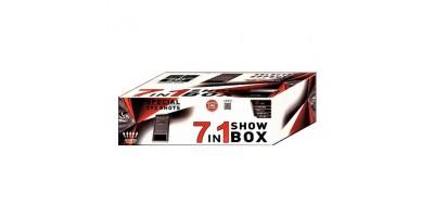 "Stobru bloks, baterija, salūts ""7 IN 1 SHOW BOX"" PXC304"
